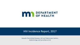 HIV  Incidence   Report , 2017