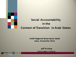 Social Accountability  in the