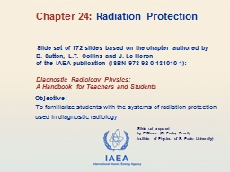 Slide set of 172 slides based on the chapter authored by