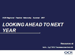 LOOKING AHEAD TO NEXT YEAR PowerPoint PPT Presentation