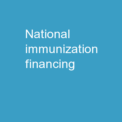 National Immunization Financing