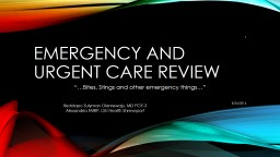 emergency and urgent care review