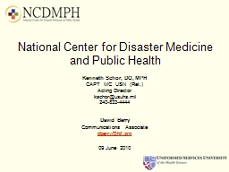 National Center for Disaster Medicine