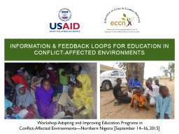 Information & Feedback Loops for Education in Conflict-Affected environments