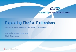 Exploiting Firefox Extensions