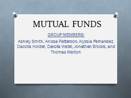 MUTUAL FUNDS GROUP MEMBERS: PowerPoint PPT Presentation
