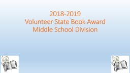 2018-2019 Volunteer State Book Award