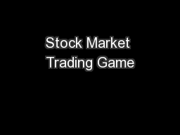 Stock Market Trading Game