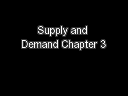 Supply and Demand Chapter 3