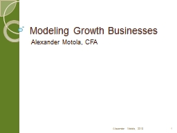 Modeling Growth Businesses