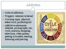 Addiction Cycle of addiction