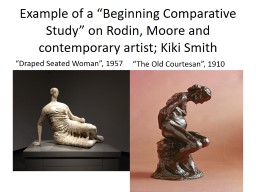 Example of a �Beginning Comparative Study� on Rodin, Moore and contemporary artist; Kiki Smith