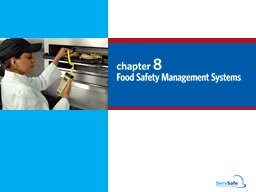 8-2 Food Safety Management Systems