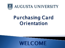 Purchasing  Card  Orientation