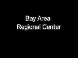 Bay Area Regional Center