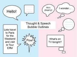 Thought & Speech Bubble Outlines