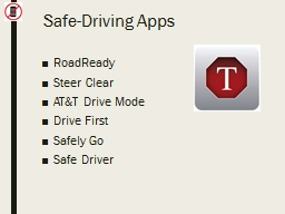 Safe-Driving Apps RoadReady PowerPoint PPT Presentation