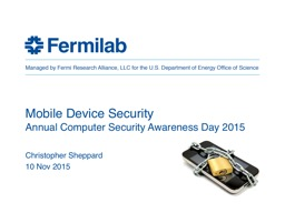 Mobile Device  Security Annual Computer Security Awareness Day 2015