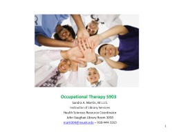 Occupational Therapy 5903 PowerPoint Presentation, PPT - DocSlides