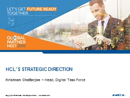 HCL�s Strategic Direction