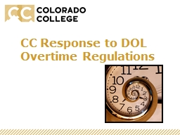 CC Response to DOL Overtime Regulations
