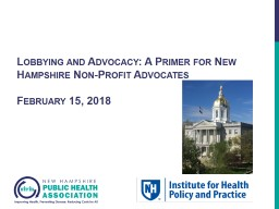 Lobbying and Advocacy: A Primer for New Hampshire Non-Profit Advocates