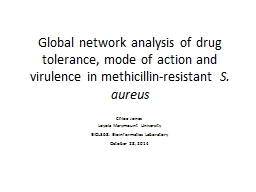 Global network analysis of drug tolerance, mode of action and virulence in methicillin-resistant