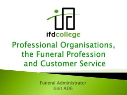 Professional Organisations,