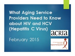 What  Aging Service Providers Need to Know about HIV and