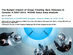 The Budget Impact of  Drugs Treating Rare Diseases in Canada