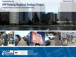 Value Pricing Pilot (VPP) Parking Project