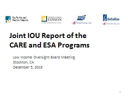Joint IOU Report of the