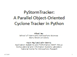 PyStormTracker :  A Parallel Object-Oriented Cyclone Tracker in Python