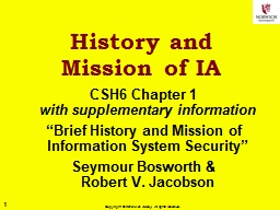 History and Mission of IA