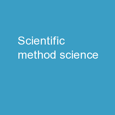 Scientific Method Science