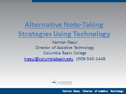 Alternative Note-Taking Strategies Using Technology