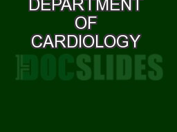 OPD SCHEDULE OF AIIMS HOSPITAL DEPARTMENT OF CARDIOLOGY