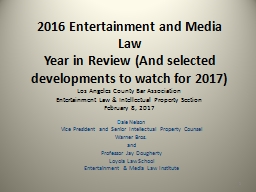 2017  Copyright/Media Law PowerPoint PPT Presentation