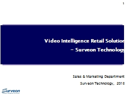 1 Video Intelligence Retail Solution