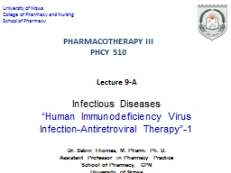 Lecture  9-A Infectious PowerPoint PPT Presentation