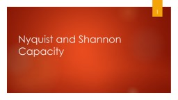 Nyquist   and Shannon  Capacity
