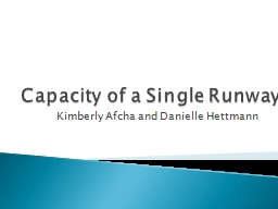 Capacity of a Single Runway