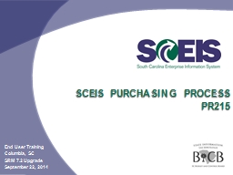 SCEIS Purchasing Process