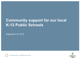 Community support for our local K-12