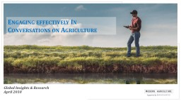 Engaging effectively In Conversations on Agriculture