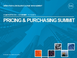 PRICING & PURCHASING SUMMIT