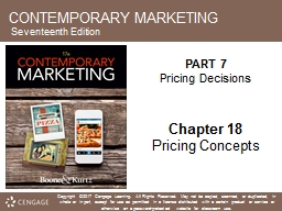 CONTEMPORARY MARKETING Seventeenth Edition