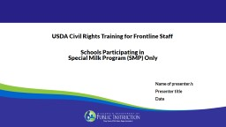 Annual USDA  Civil Rights