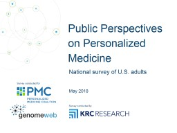 Public Perspectives on  Personalized