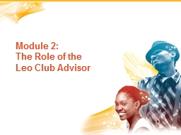 Module 2:   The Role of the